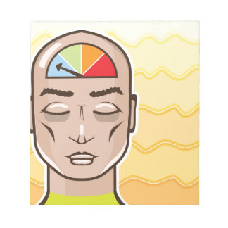 Relax Alert gauge meditating person Notepad