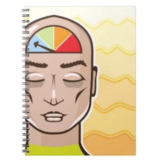 Relax Alert gauge meditating person Spiral Notebook
