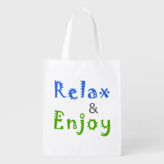 Relax and Enjoy Grocery Bag