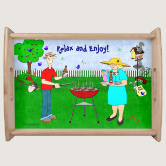 Relax and Enjoy in Ralphie & Ruthie's Garden - Serving Tray