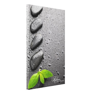 Relax and Enjoy Your Stay - Zen Rocks Canvas Print