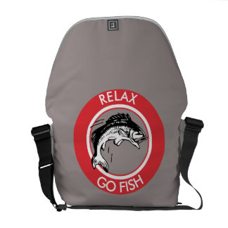 RELAX AND GO FISHING COURIER BAG