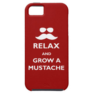 Relax and Grow a Mustache iPhone SE/5/5s Case