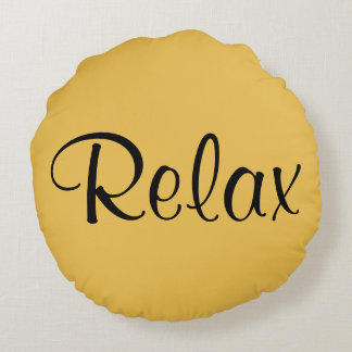 Relax and Just Breath Round Throw Pillow