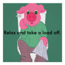 Relax and Take a Load Off Poster Caption Template
