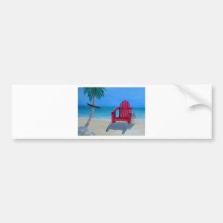 Relax at the beach bumper sticker