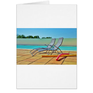 Relax at the pool greeting card