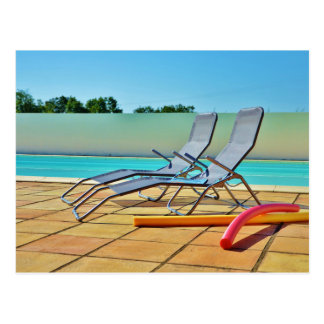 Relax at the pool post cards