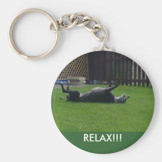 RELAX!!! BASIC ROUND BUTTON KEYCHAIN