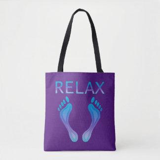 Relax Beach Feet Tote Bag