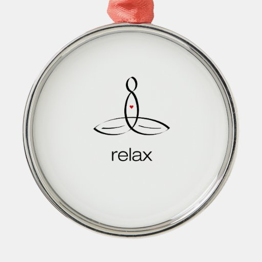 Relax - Black Regular style Christmas Ornaments
