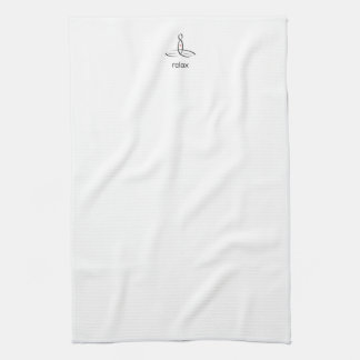 Relax - Black Regular style Hand Towels