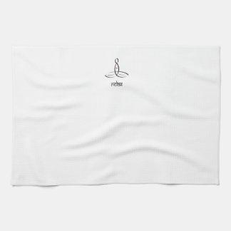 Relax - Black Sanskrit style Towel
