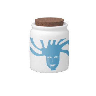 Relax (blue edition) candy jar