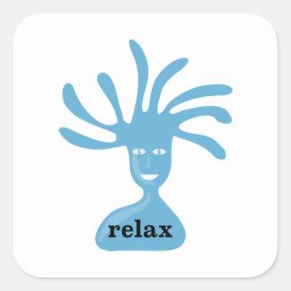 Relax (blue edition) square sticker