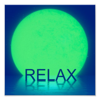 Relax Blue Poster