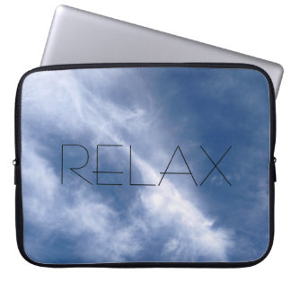 Relax blue sky and cloud laptop case