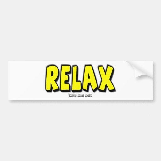 Relax Bumper Stickers