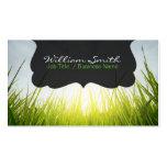 Relax calm grass Business card Tarjetas De Visita