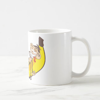 Relax & chill out | ape on banana classic white coffee mug
