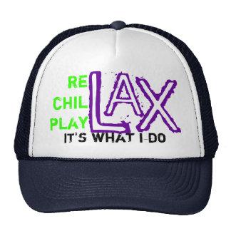 relax chillax playlax mesh hat