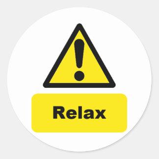 Relax Classic Round Sticker