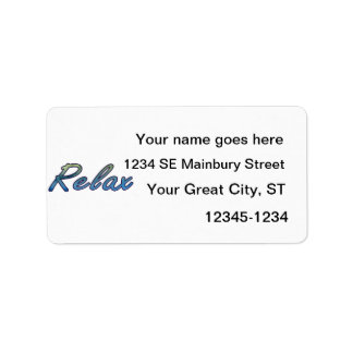 Relax cloud green blue outlined address label