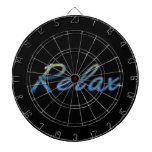 Relax cloud green blue outlined dart board