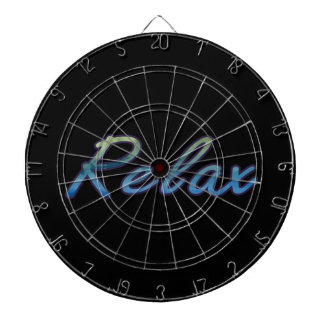 Relax cloud green blue outlined dartboard