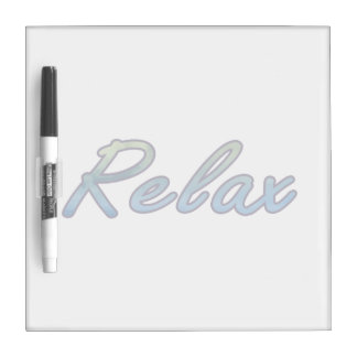 Relax cloud green blue outlined dry erase whiteboard