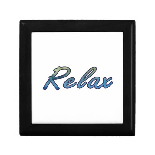 Relax cloud green blue outlined gift box