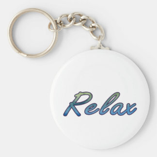 Relax cloud green blue outlined key chain