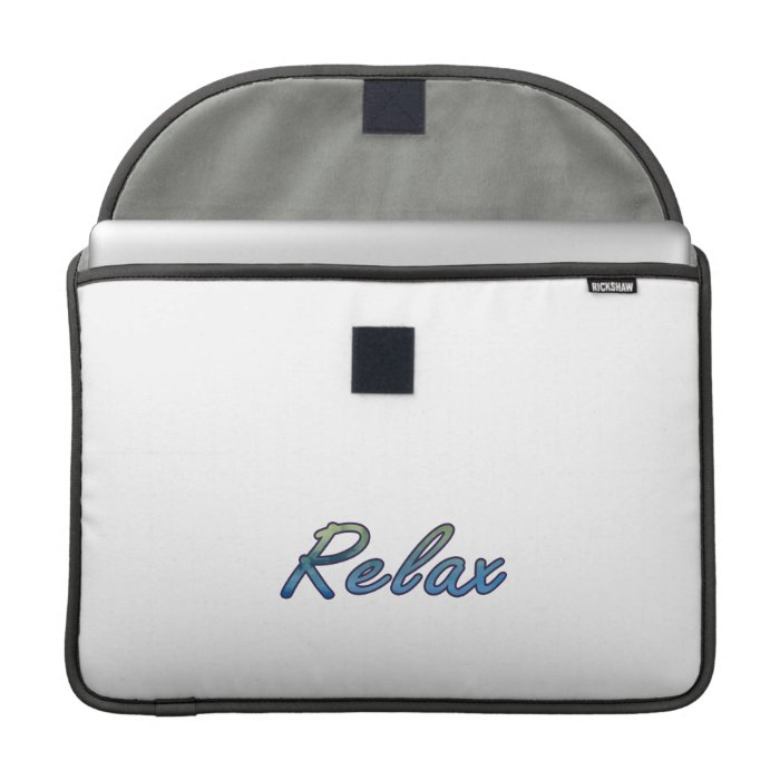 Relax cloud green blue outlined MacBook pro sleeves