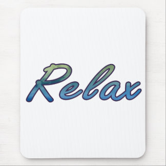 Relax cloud green blue outlined mouse pad