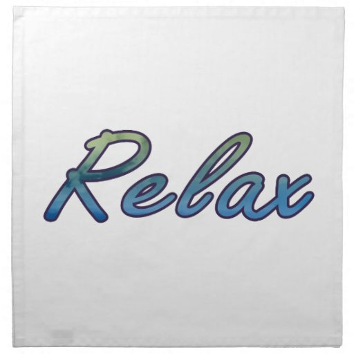 Relax cloud green blue outlined napkin