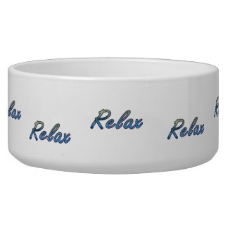 Relax cloud green blue outlined pet food bowls