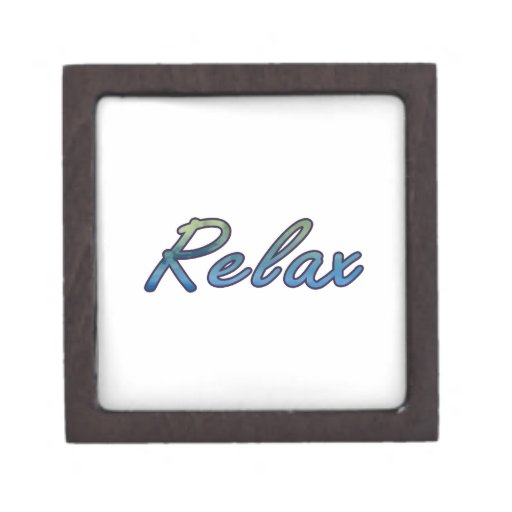 Relax cloud green blue outlined premium jewelry box