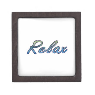 Relax cloud green blue outlined premium keepsake boxes