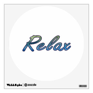Relax cloud green blue outlined room graphics