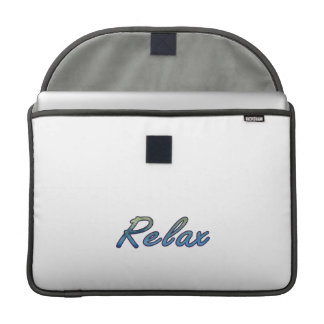 Relax cloud green blue outlined sleeve for MacBook pro