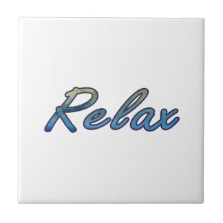 Relax cloud green blue outlined tile
