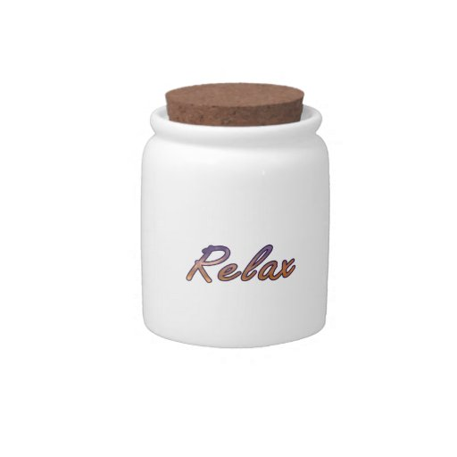 Relax cloud purple orange outlined candy jars