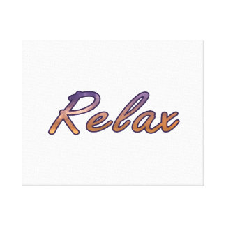 Relax cloud purple orange outlined canvas print