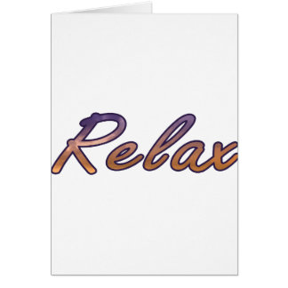 Relax cloud purple orange outlined card