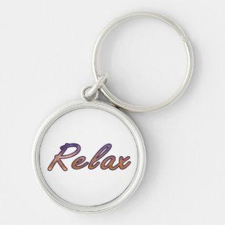 Relax cloud purple orange outlined key chain