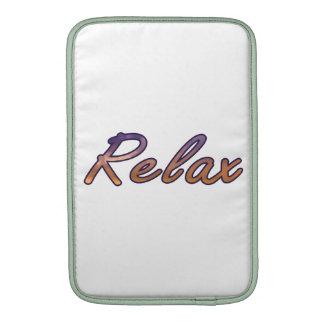 Relax cloud purple orange outlined MacBook air sleeve
