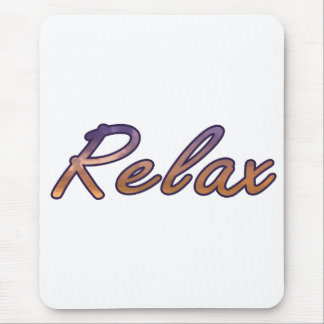 Relax cloud purple orange outlined mouse pad