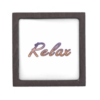 Relax cloud purple orange outlined premium gift boxes