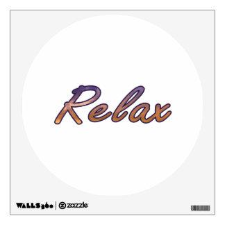 Relax cloud purple orange outlined wall skin