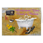 Relax- customize greeting card